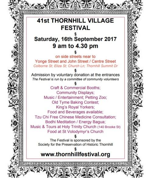 Thornhill Village Festival