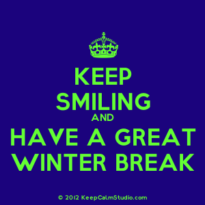 have a wonderful winter break classes resume on monday january 8