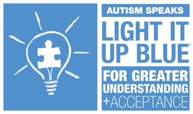 Autism Awareness- Light it up Blue