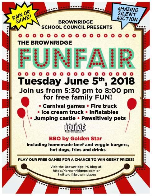 Brownridge Fun Fair Poster 2018