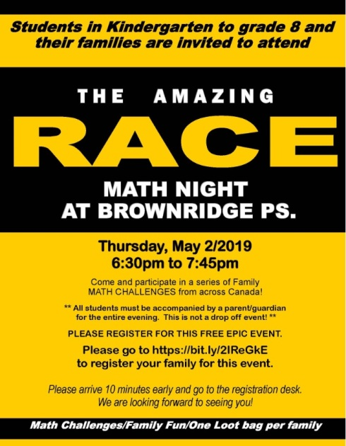 The Amazing Race Math Night