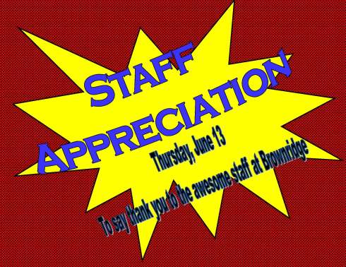 Staff Appreciation Tea