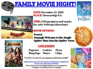 December 2019 Movie Night Poster
