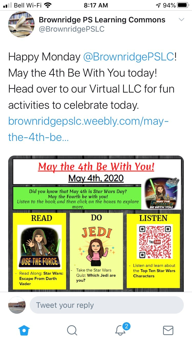 Brownridge Learning Commons- Star Wars Day
